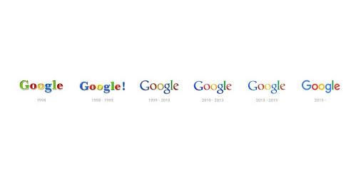 Google, évolution de son logo.